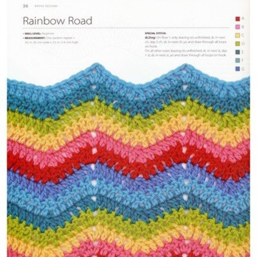 100 Colorful Ripple Stitches to Crochet -  ()