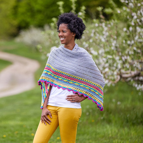 Alia Bland Sunday Shawl Set - Model (01)