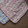 Appalachian Baby Design Hello Baby Collection Knit Kit: Campbell Blanket - Pink-Natural (PINK)