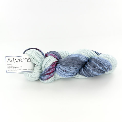 Artyarns Drama Queen Silk Shawl Kit - Blue (BLUE)
