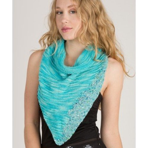 Artyarns Lazy Days Triangular Shawl Kit - Blue (BLUE)