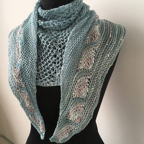 Artyarns Peacock Shawl Kit - Ocean (OCEA)