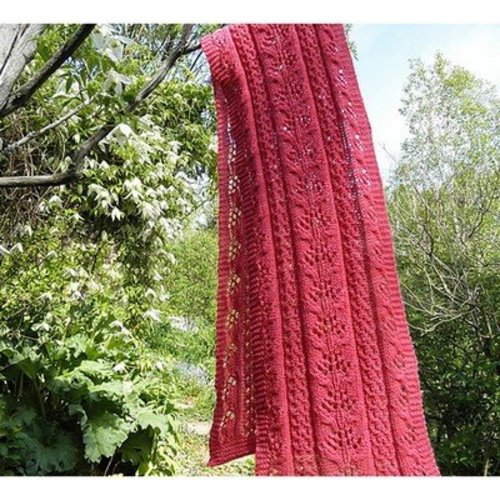 Baah Yarn Pink Coral and Lace Scarf -  ()
