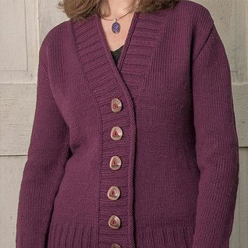 Basix 104 Cambridge Top-Down Cardigan PDF -  ()