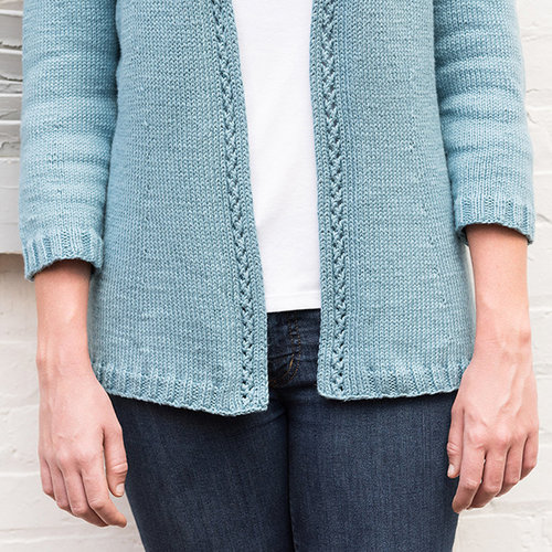 Basix 121 San Diego Top-Down Cardigan PDF -  ()