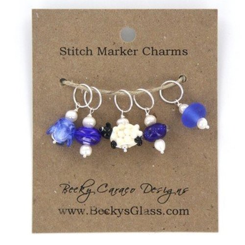 Becky Caraco Designs Stitch Markers - Blue (BLUE)