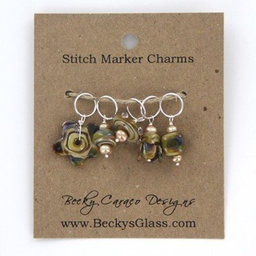 Becky Caraco Designs Stitch Markers - Earthy Charms (SMS002)