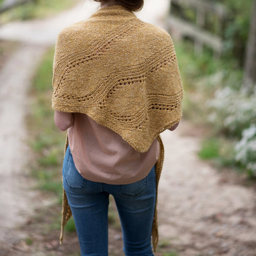Berroco Amber Waves Shawl PDF -  ()