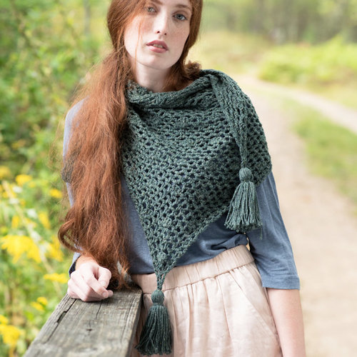 Berroco Balsam Scarf Kit - Juniper - Model (1)