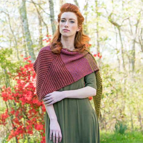 Berroco Lhassi Shawl Kit - Model Color (01)