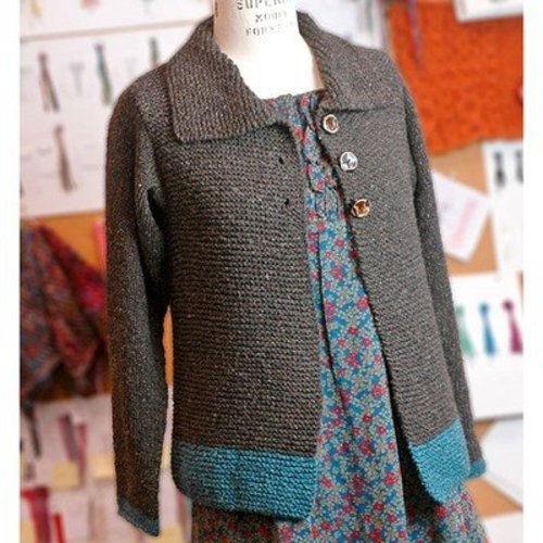 Free Knitting Pattern Zippered Cardigan : Berroco Sawtelle Adult (Free) at WEBS Yarn.com