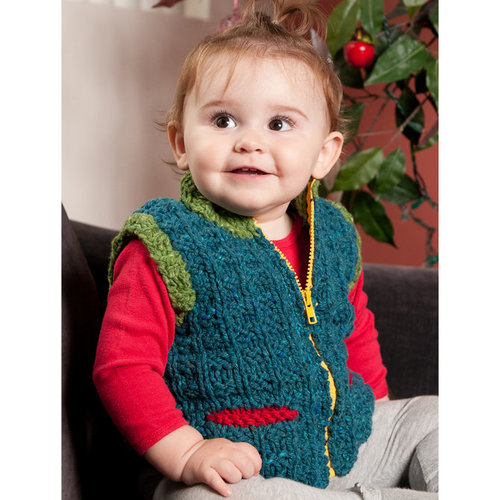 Black Bird Knits Vick Park Baby/Child Vest PDF -  ()