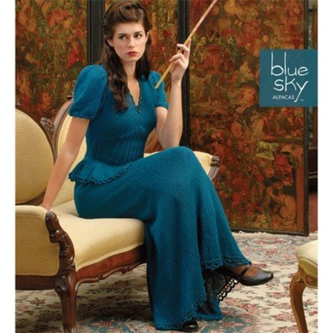 Blue Sky Fibers 1940\'s Inspired Gown at WEBS | Yarn.com