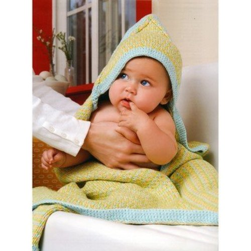 Blue Sky Fibers Hooded Baby Blanket -  ()
