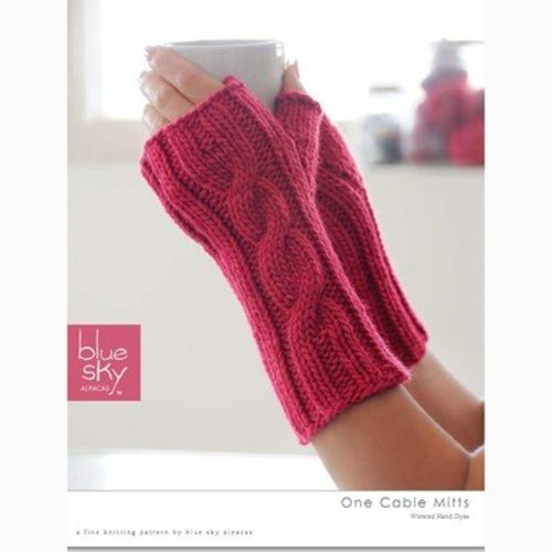 Blue Sky Fibers One Cable Mitts (Free) -  ()