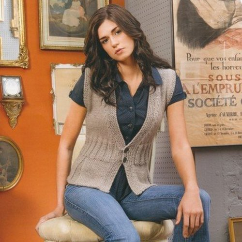Blue Sky Fibers Pleated Vest - Download (PVPDF)