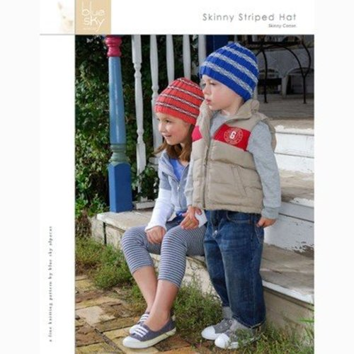 Blue Sky Fibers Skinny Stripe Hat (Free) -  ()