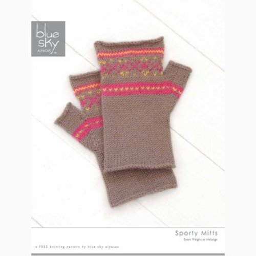 Blue Sky Fibers Sporty Mitts (Free) -  ()