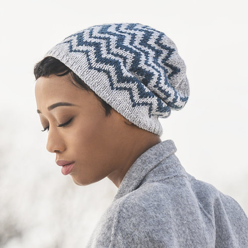 Blue Sky Fibers Springfield Chevron Hat PDF -  ()