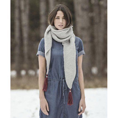 Blue Sky Fibers St. Cloud Scarf PDF -  ()