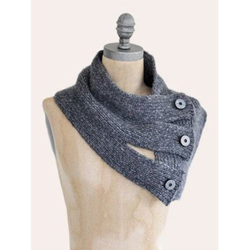 Blue Sky Fibers Tri-Button Cowl PDF -  ()
