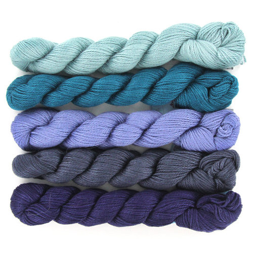 Blue Sky Fibers Windom Silk Wrap Kit - Blue (BLUE)