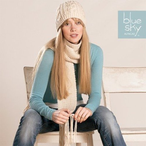Blue Sky Fibers Worsted Scarf & Hat -  ()