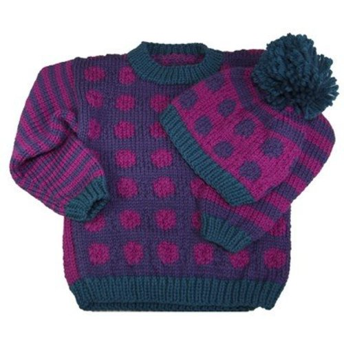 Cascade Yarns A184 Dots & Stripes Sweater & Hat (Free) -  ()