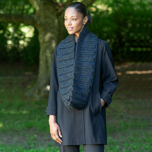 Cascade Yarns A315 Peacock Ribbed Cowl (Free) -  ()