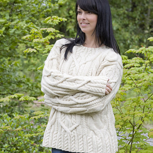 Cascade Yarns C186 Cable Lover's Pullover (Free) -  ()