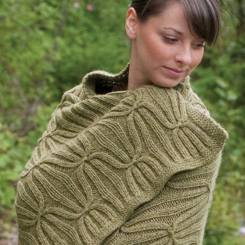 Cascade Yarns C224 Eco+ Quilt and Cable Blanket (Free) -  ()