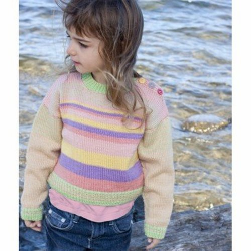Cascade Yarns DK227 Girl's Striped Sweater (Free) -  ()