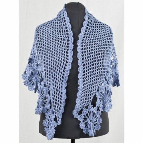 Cascade Yarns DK276 French Blue Shawl (Free) -  ()