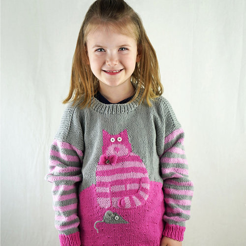 Cascade Yarns DK601 Cat & Mouse Sweater (Free) -  ()
