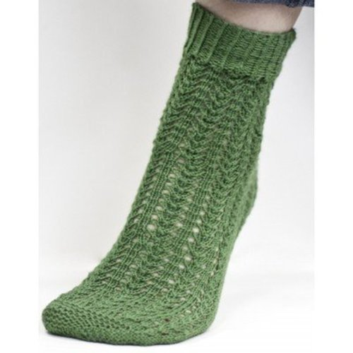 Cascade Yarns FW115 Heritage Green Textured Socks (Free) -  ()