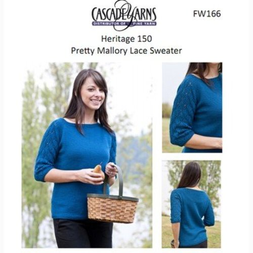 Cascade Yarns FW166 Pretty Mallory Lace Sweater (Free) -  ()