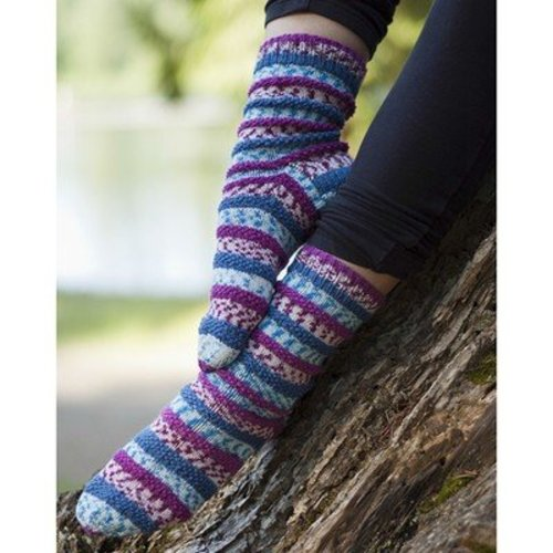 Cascade Yarns FW190 Popp'in Prints Socks (Free) -  ()