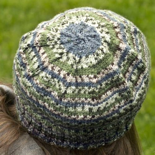 Cascade Yarns FW206 Striped Stocking Adult Cap (Free) -  ()