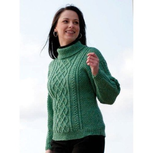 Cascade Yarns W210 220 Superwash Lattice Knit Sweater and Hat (Free) -  ()