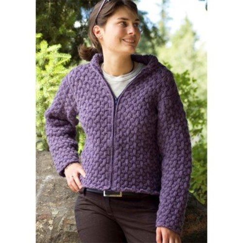 Cascade Yarns W227 Cabled Hoodie (Free) -  ()