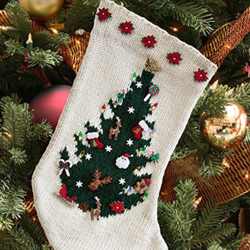 Cascade Yarns W310 O Christmas Tree Stocking (Free) -  ()