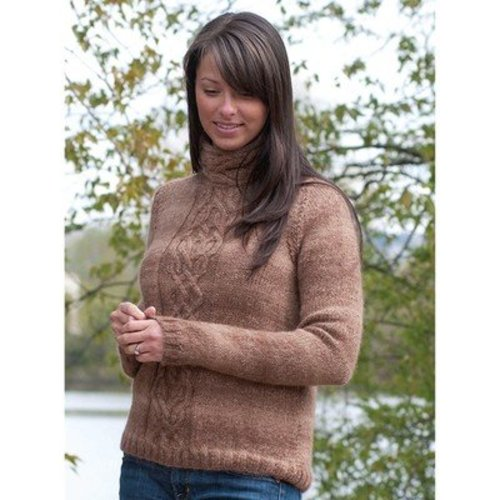 Cascade Yarns W335 Cabled Pullover (Free) -  ()
