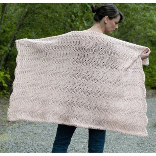 Cascade Yarns W393 Catch the Wave Blanket (Free) -  ()