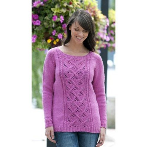 Cascade Yarns W405 Winter Rose Sweater (Free) -  ()