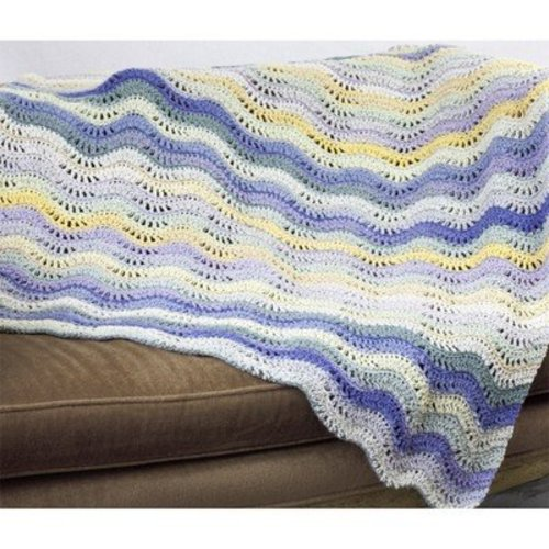 Cascade Yarns W446 Waves and Sunshine Blanket (Free) -  ()