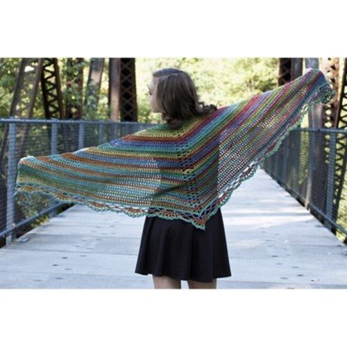 Cascade Yarns W549 Tangier Wildflowers Shawl (Free) -  ()