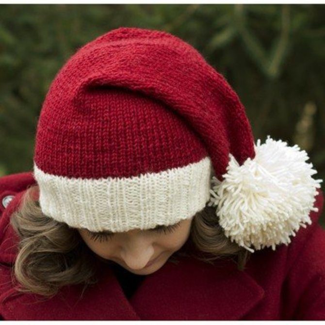 Knitted Hats Patterns Easy : Cascade Yarns W583 Santa Hat (Free) at WEBS Yarn.com