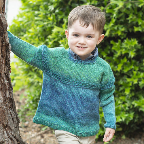 Cascade Yarns W719 Top Down Gradient Kid's Sweater (Free) -  ()