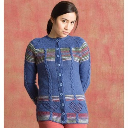 Classic Elite Yarns 1406 Flying Colors Cardigan PDF -  ()
