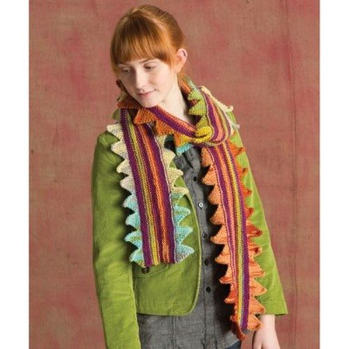 Classic Elite Yarns 1417 Sawtooth Edge Scarf PDF -  ()